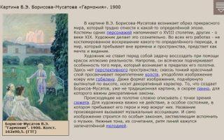 Описание картины виктора борисова-мусатова «гармония»