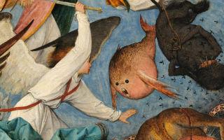 Описание картины питера брейгеля «падение ангелов»