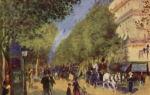 Описание картины пьера огюста ренуара «большие бульвары»