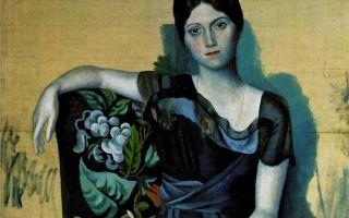 Описание картины пабло пикассо «портрет ольги в кресле»