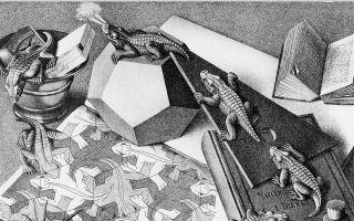 Описание картины маурица эшера «рептилии»