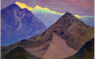 Описание картины николая рериха «тибет. гималаи»
