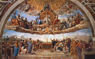 Описание фрески рафаэля санти «диспут»