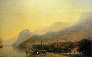 Описание картины ивана айвазовского «алушта»