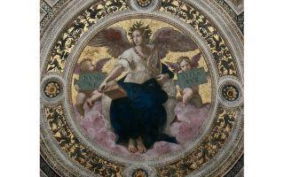 Описание картины рафаэля санти «станца делла сеньятура»