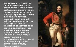 Описание картины ореста кипренского «портрет давыдова»