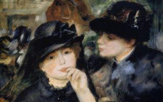 Описание картины пьера огюста ренуара «девушки в черном»