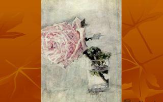 Описание картины михаила врубеля «роза в стакане»