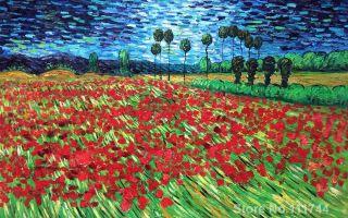 Описание картины винсента ван гога «поле маков»
