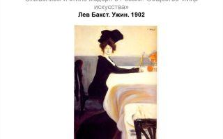 Описание картины леона бакста «ужин» (вариант 2)