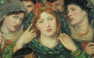 Описание картины данте россетти «возлюбленная» (невеста)