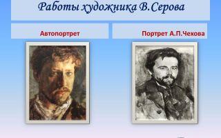 Описание картины валентина серова «портрет а. п. чехова»