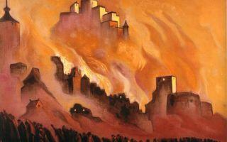 Описание картины николая рериха «армагеддон»