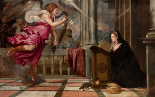 Описание картины тициана «благовещение»