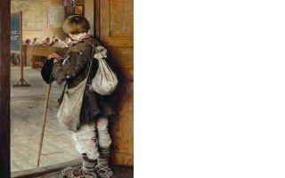 Описание картины николая богданова-бельского «у дверей школы»