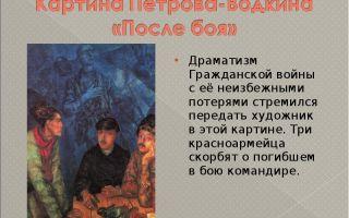 Описание картины кузьмы петрова-водкина «после боя»