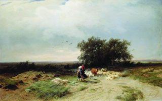 Описание картины федора васильева «возвращение стада»