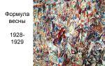 Описание картины павла филонова «формула весны»