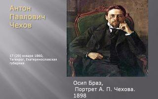Описание картины осипа браза «портрет антона павловича чехова»