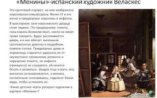 Описание картины диего веласкеса «менины»