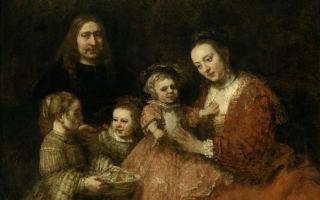Описание картины рембранта харменса ван рейна «семейный портрет»