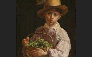 Описание картины ивана хруцкого «портрет мальчика в соломенной шляпе»