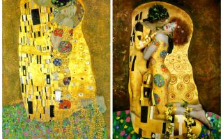Описание картины густава климта «любовь»