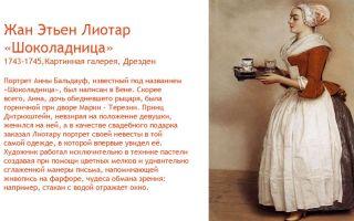 Описание картины жана-этьена лиотара «шоколадница»