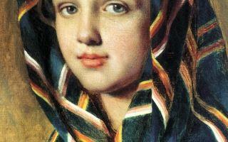 Описание картины алексея венецианова «девушка в платке»