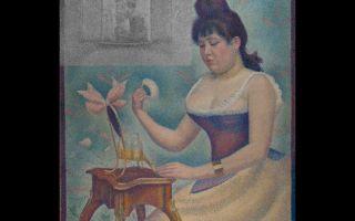 Описание картины жоржа сёра «пудрящаяся женщина»