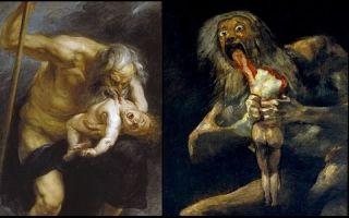 Описание картины франциско де гойя «сатурн пожирает своих детей»