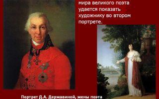Описание картины владимира боровиковского «портрет д. а. державиной»