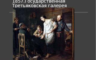Описание картины василия перова «приезд станового на следствие»