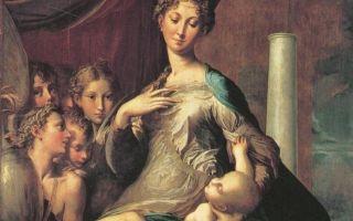 Описание картины франческо пармиджанино «мадонна с длинной шеей»