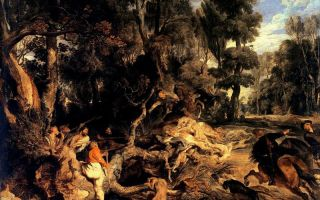 Описание картины питера рубенса «охота на кабана»