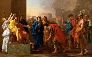 Описание картины николя пуссена «великодушие сципиона»