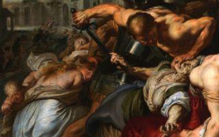 Описание картины питера рубенса «избиение младенцев»
