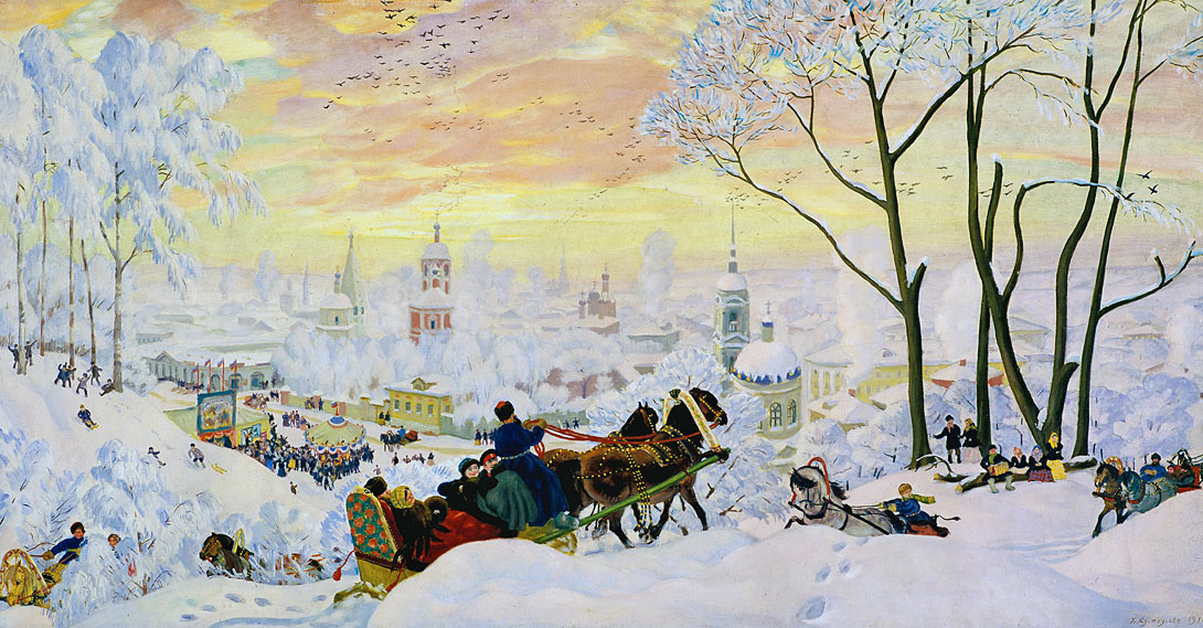 Б. Кустодиев. Зима