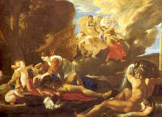 Описание картины николы пуссена «смерть германика ...